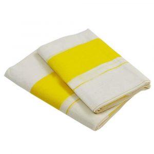 Kerala cotton set mundu with yellow border