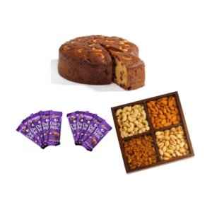 Plum Cake with 1KG dry nuts and 10 chocolates
