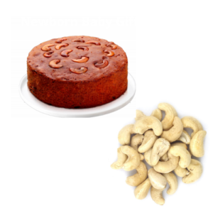 Plum Cake with 1 KG Cashew Nuts