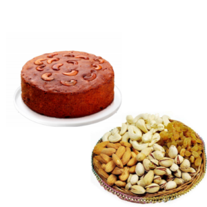 Plum Cake with 1 KG Mixed Dry Nuts